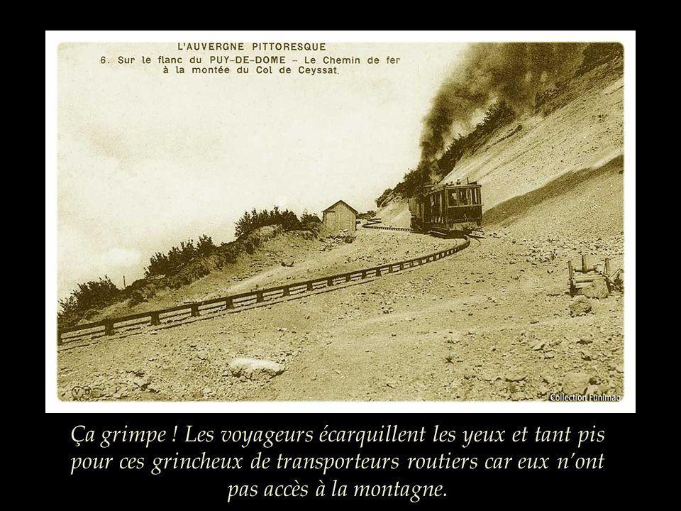 A la sortie du bois de Charme-les-Chars, le train sengage dans la montée et le système Hanscotte est indispensable.