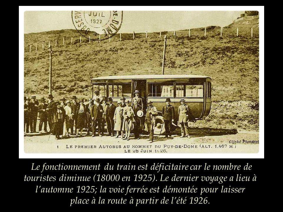 La création de la voie ferrée laisse des traces sur la montagne dont les flancs sont à jamais entaillés. Au début du XXème siècle, lenvironnement nest