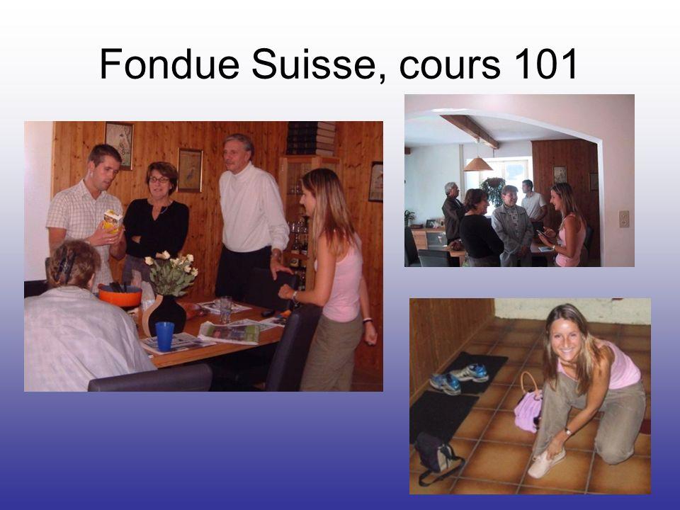 Fondue Suisse, cours 101