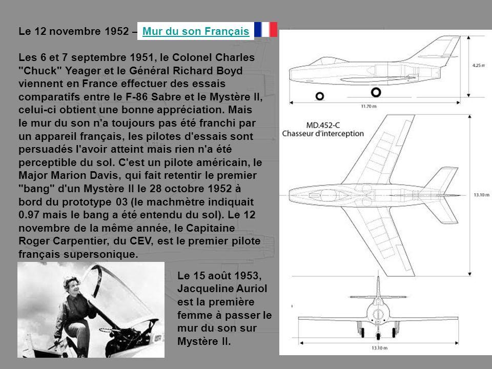 Le 12 novembre 1952 – Les 6 et 7 septembre 1951, le Colonel Charles