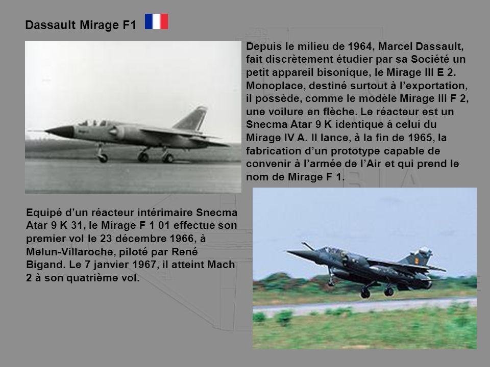 Depuis le milieu de 1964, Marcel Dassault, fait discrètement étudier par sa Société un petit appareil bisonique, le Mirage III E 2. Monoplace, destiné