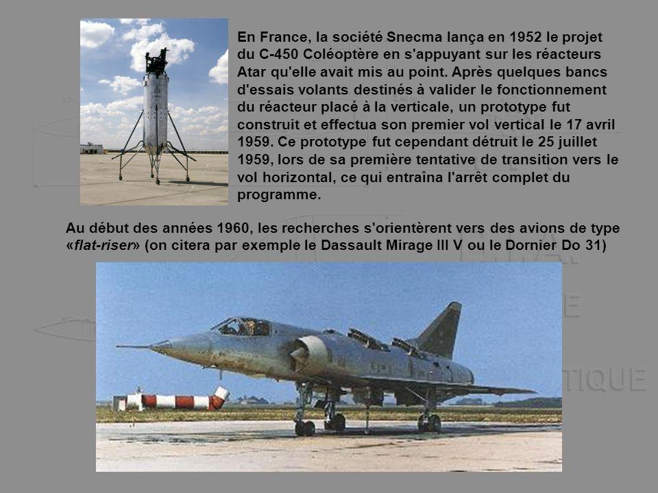 En France, la société Snecma lança en 1952 le projet du C-450 Coléoptère en s'appuyant sur les réacteurs Atar qu'elle avait mis au point. Après quelqu