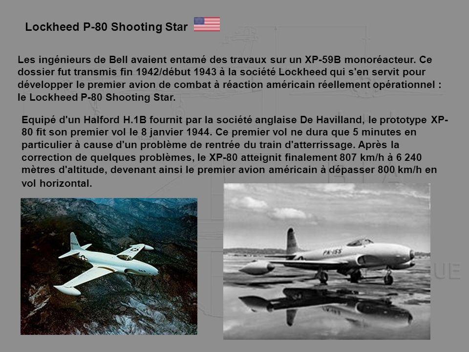 Les ingénieurs de Bell avaient entamé des travaux sur un XP-59B monoréacteur. Ce dossier fut transmis fin 1942/début 1943 à la société Lockheed qui s'