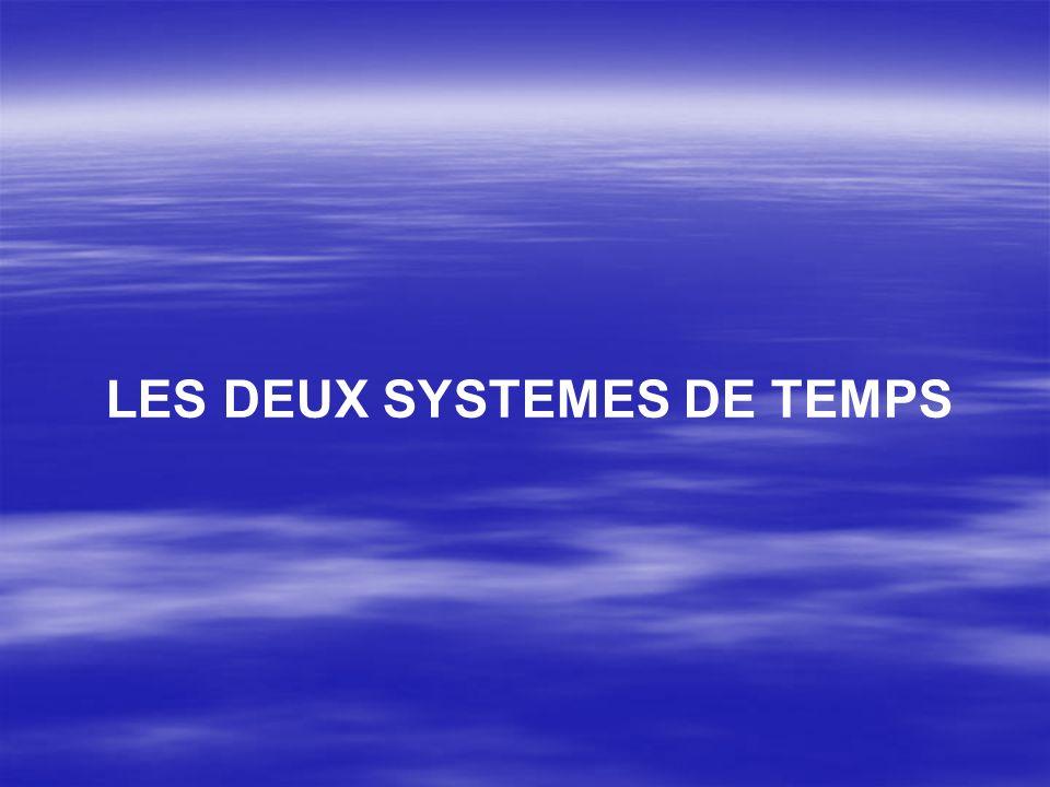 LES DEUX SYSTEMES DE TEMPS