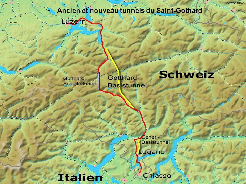 Ancien et nouveau tunnels du Saint-Gothard