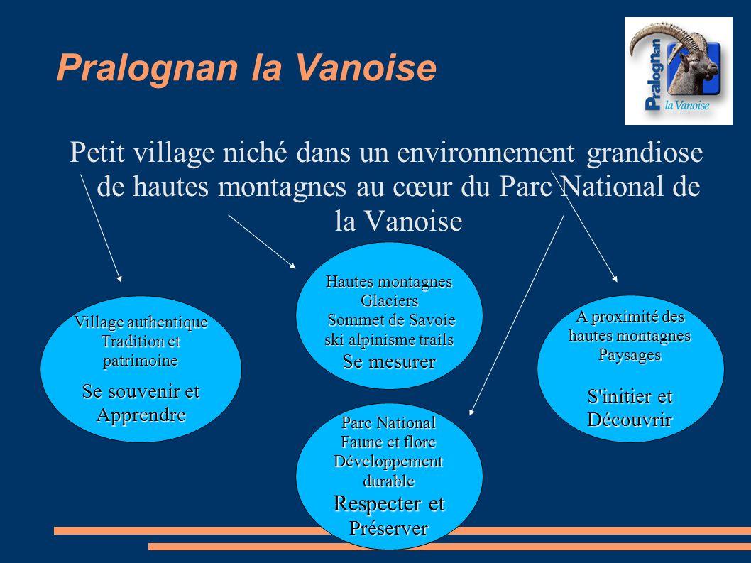 Pralognan la Vanoise Petit village niché dans un environnement grandiose de hautes montagnes au cœur du Parc National de la Vanoise Village authentiqu