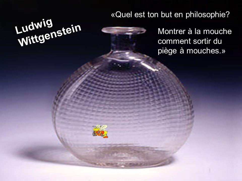 Ludwig Wittgenstein «Quel est ton but en philosophie? Montrer à la mouche comment sortir du piège à mouches.»