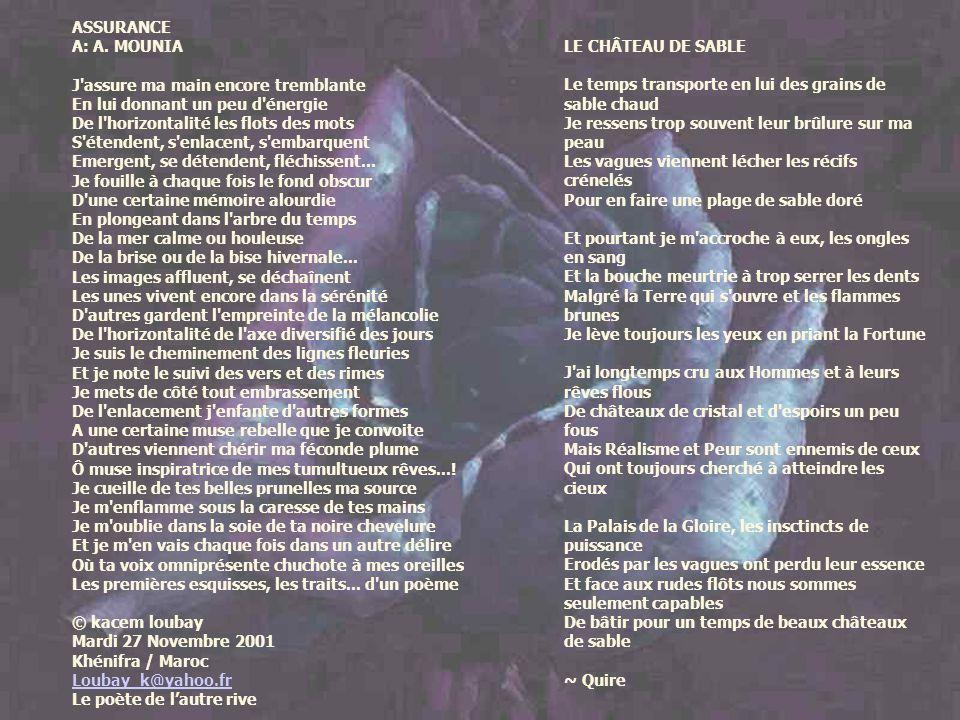 Transformation dimages et conception par Ginette Villeneuve Mots dart & scénarios http://ginette-villeneuve.forumactif.com/ Cliquez sur lImage pour avancer Hommage à nos poètes
