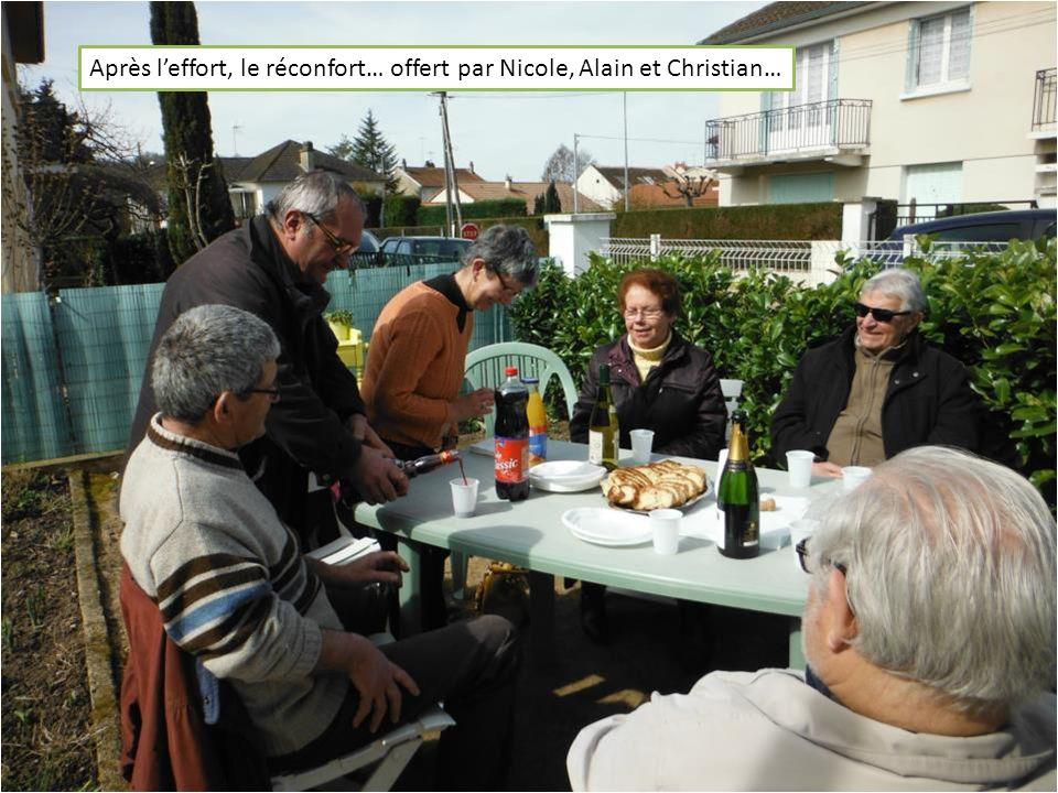 Après leffort, le réconfort… offert par Nicole, Alain et Christian…