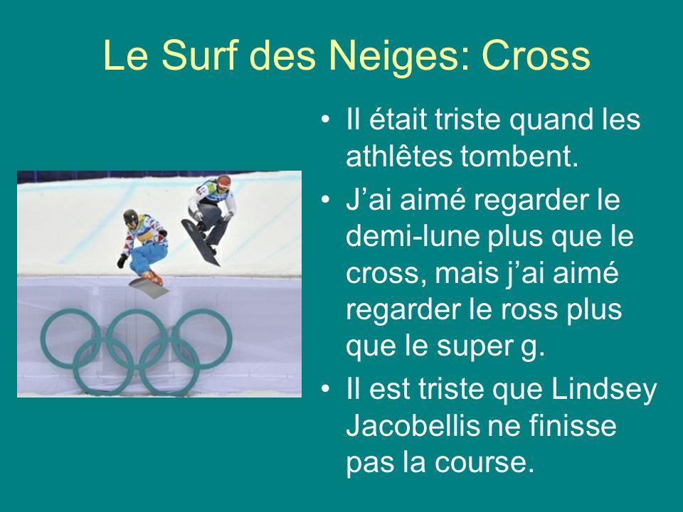 Le Surf des Neiges: Cross Il était triste quand les athlêtes tombent.
