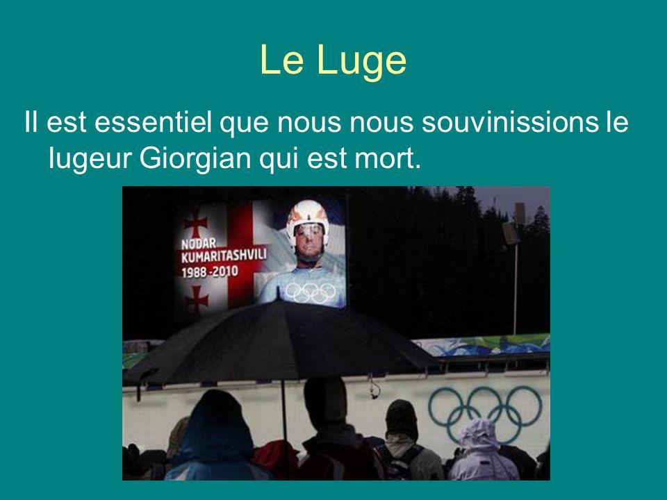 Le Luge Il est essentiel que nous nous souvinissions le lugeur Giorgian qui est mort.