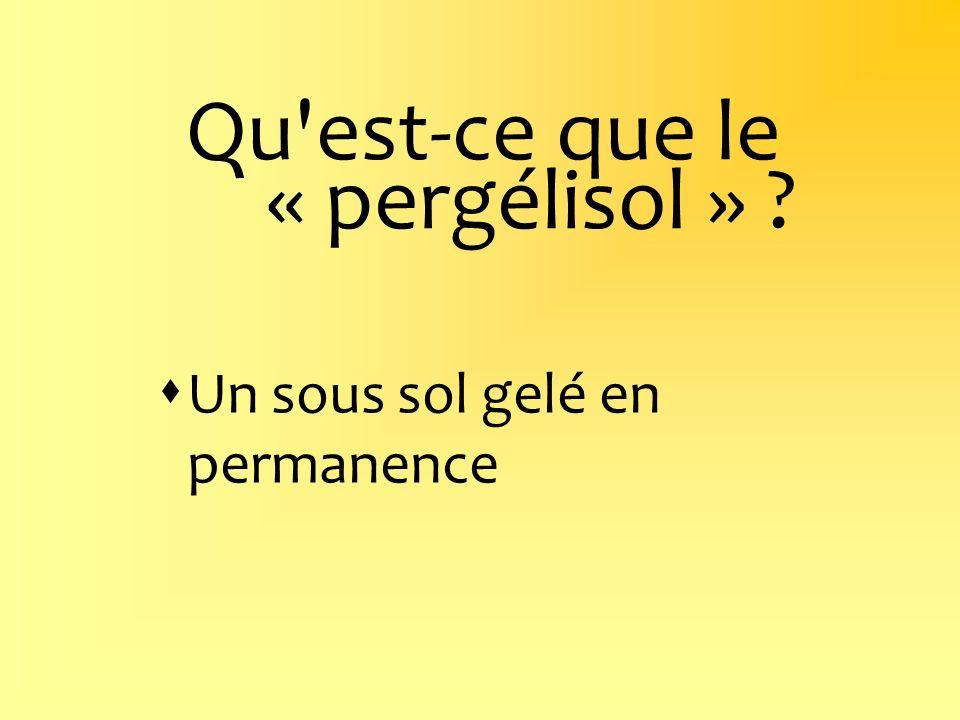 Qu'est-ce que le « pergélisol » ? Un sous sol gelé en permanence