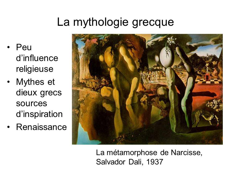 La mythologie grecque Peu dinfluence religieuse Mythes et dieux grecs sources dinspiration Renaissance La métamorphose de Narcisse, Salvador Dali, 193