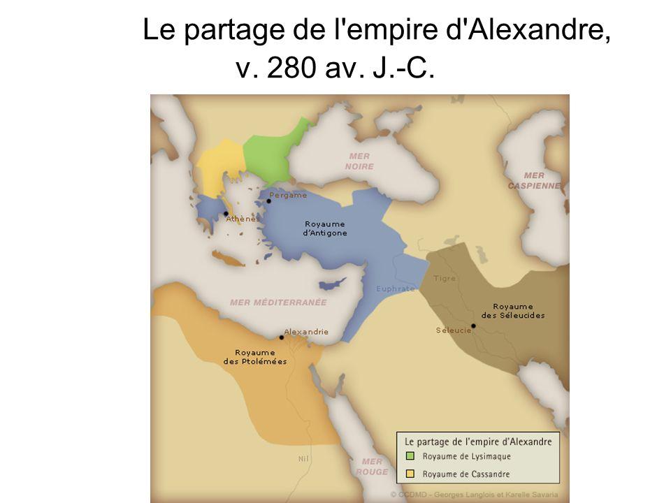 Le partage de l'empire d'Alexandre, v. 280 av. J.-C.