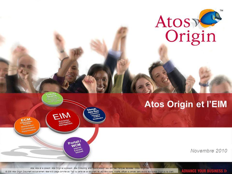 Atos, Atos et le poisson, Atos Origin et le poisson, Atos Consulting ainsi que le poisson seul sont des marques déposées d'Atos Origin SA. © 2006 Atos