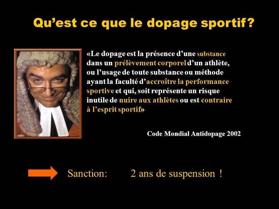 Quest ce que le dopage sportif.