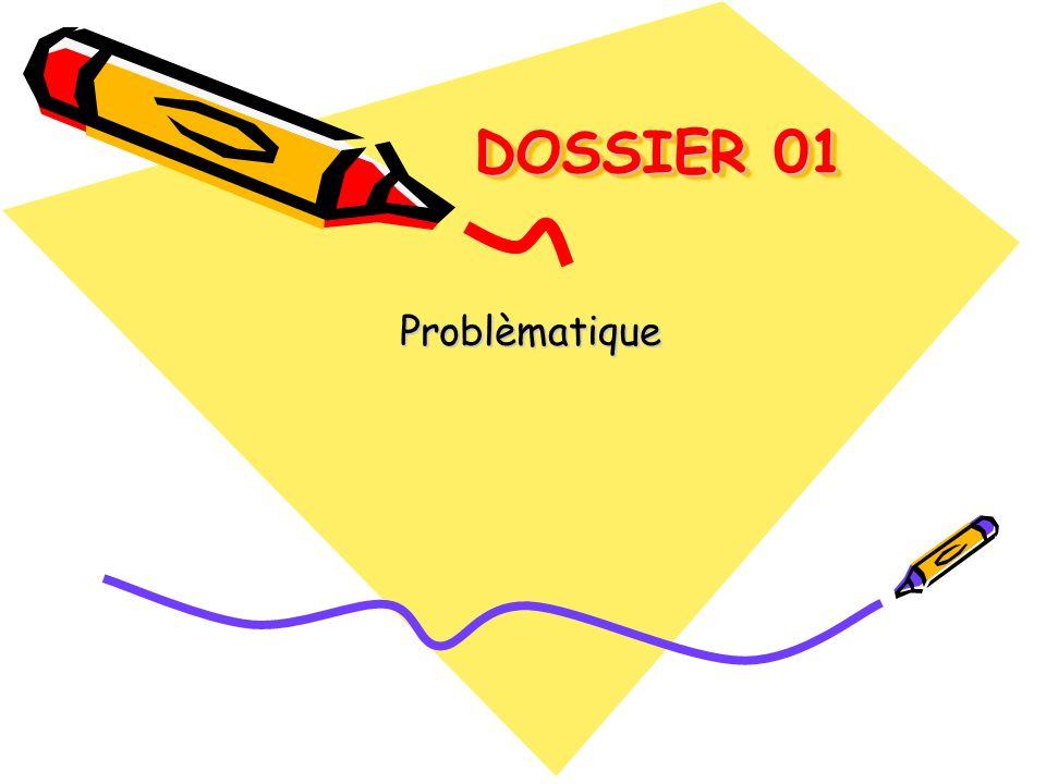 DOSSIER 01 DOSSIER 01 Problèmatique