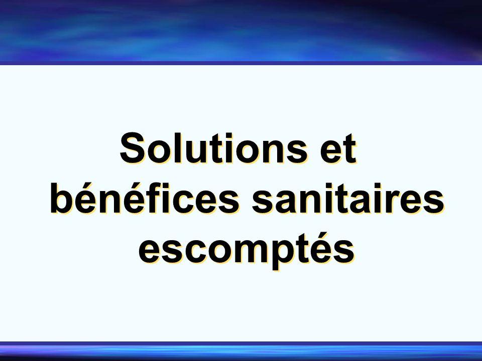 Solutions et bénéfices sanitaires escomptés