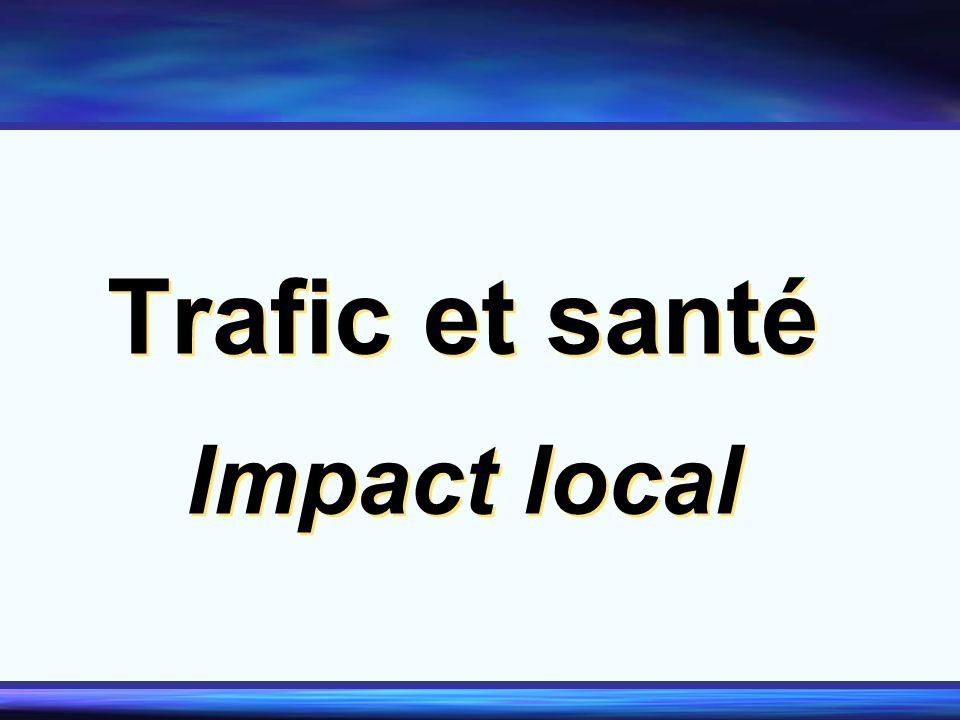 Trafic et santé Impact local Trafic et santé Impact local