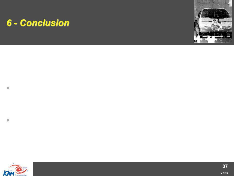 V 3.19 37 6 - Conclusion Certains problèmes à forte combinatoire peuvent être résolus à l'aide de la programmation par contraintes. (ne pas vouloir to
