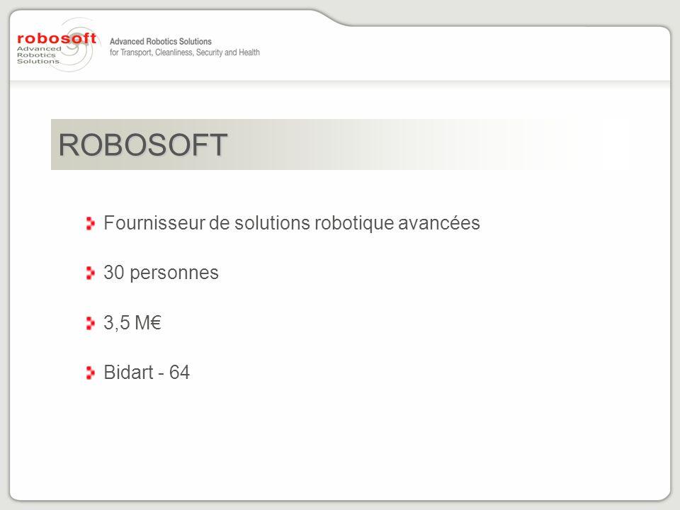 ROBOSOFT Fournisseur de solutions robotique avancées 30 personnes 3,5 M Bidart - 64