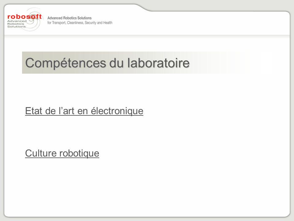 Compétences du laboratoire Etat de lart en électronique Culture robotique