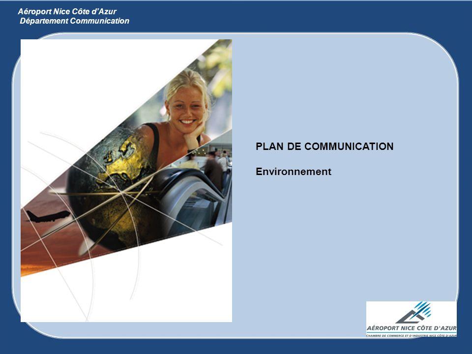 PLAN DE COMMUNICATION Environnement Aéroport Nice Côte dAzur Département Communication