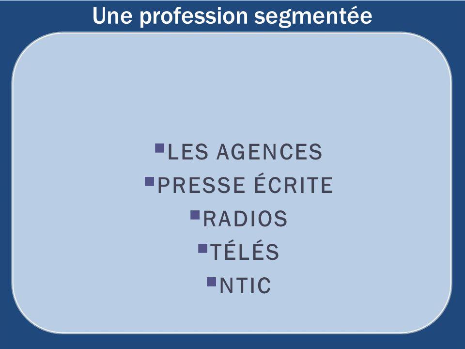 LES AGENCES PRESSE ÉCRITE RADIOS TÉLÉS NTIC Une profession segmentée
