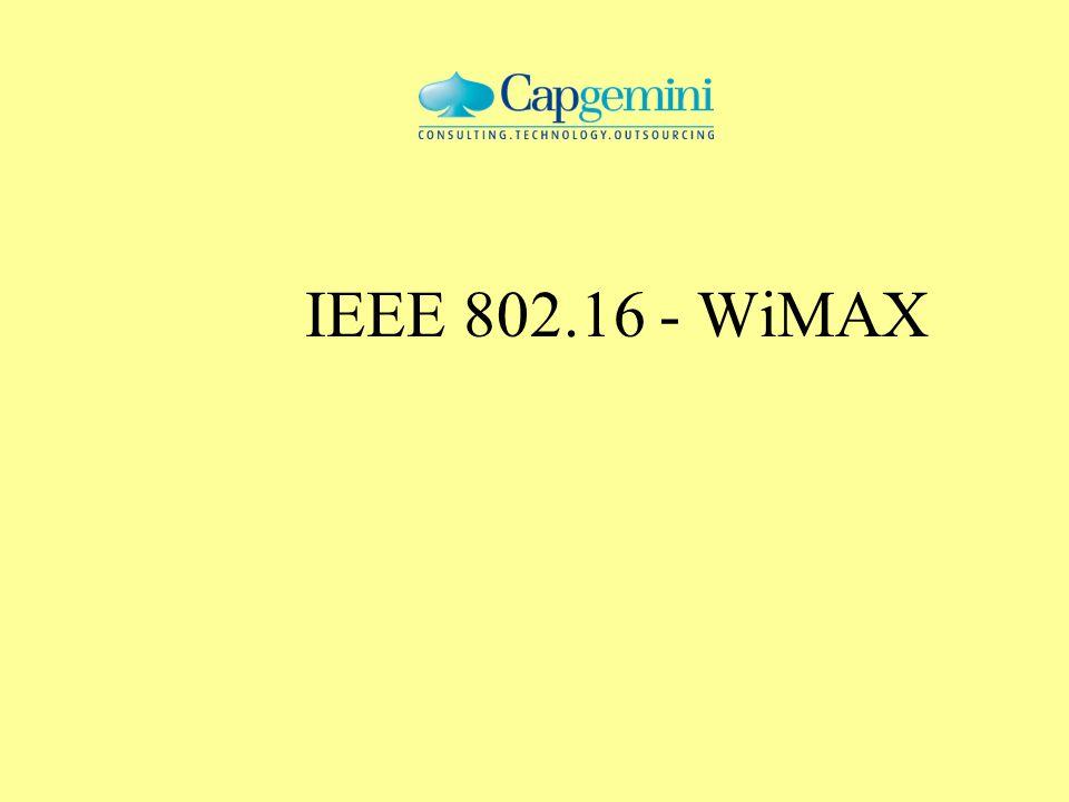IEEE 802.16 - WiMAX