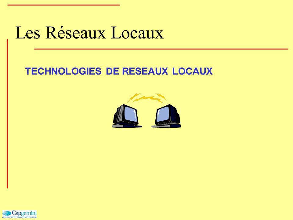 Les Réseaux Locaux TECHNOLOGIES DE RESEAUX LOCAUX