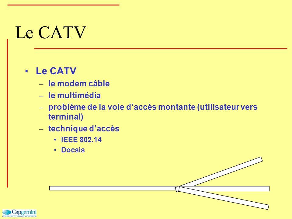 Le CATV – le modem câble – le multimédia – problème de la voie daccès montante (utilisateur vers terminal) – technique daccès IEEE 802.14 Docsis