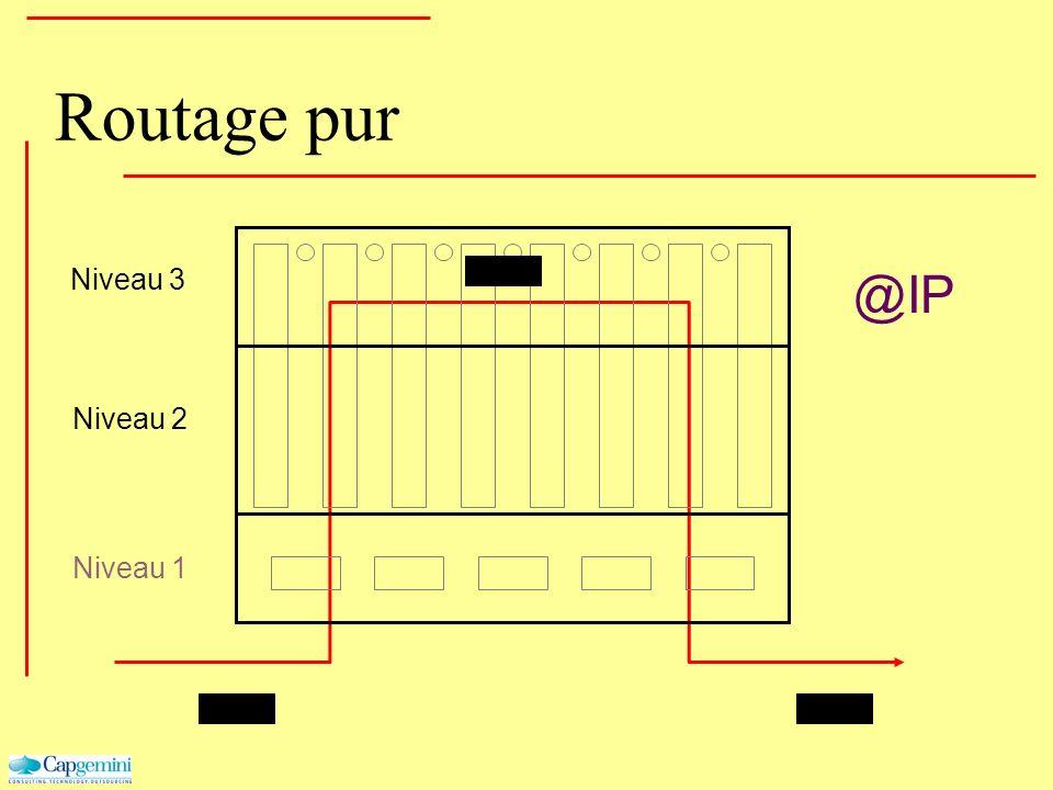 Routage pur Niveau 3 Niveau 2 Niveau 1 @IP