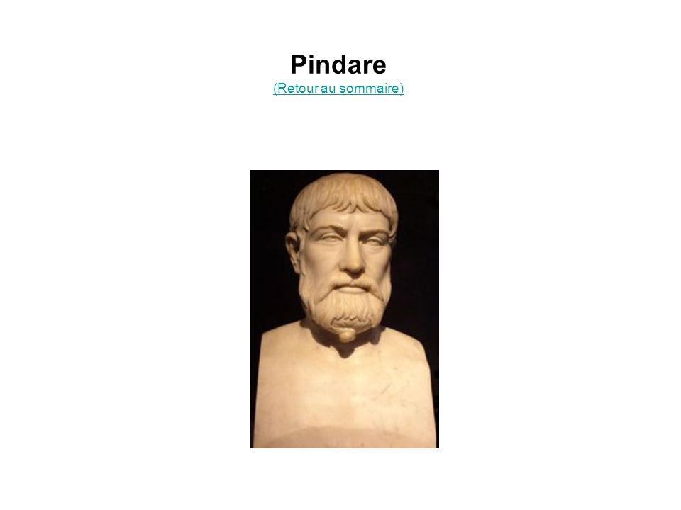 Pindare (Retour au sommaire) (Retour au sommaire)