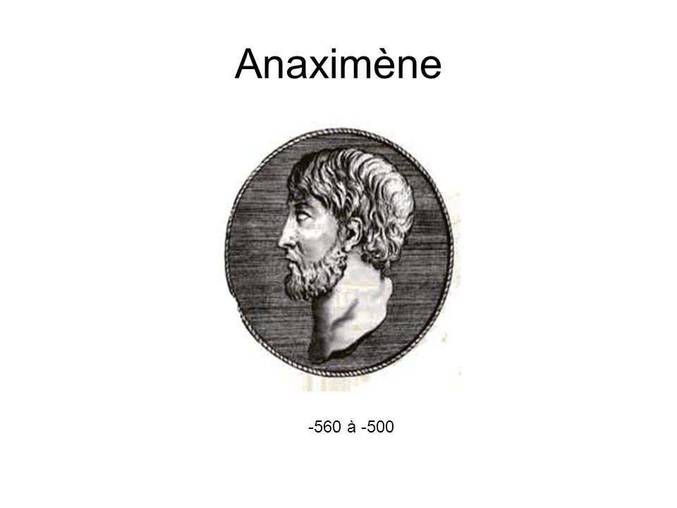 Anaximène -560 à -500