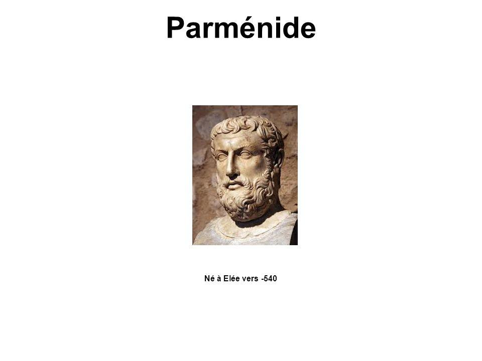 Parménide Né à Elée vers -540