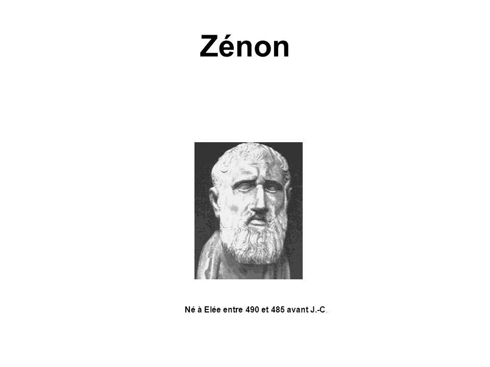 Zénon Né à Elée entre 490 et 485 avant J.-C.