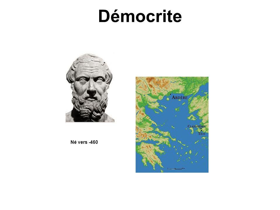 Démocrite Né vers -460