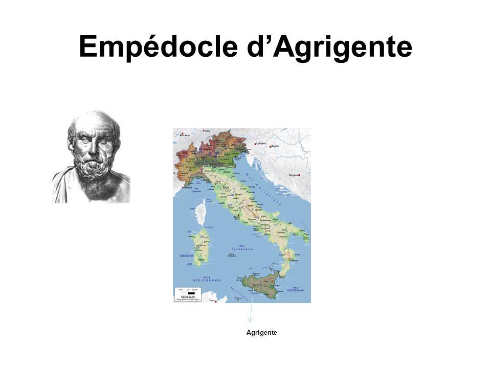Empédocle dAgrigente Agrigente