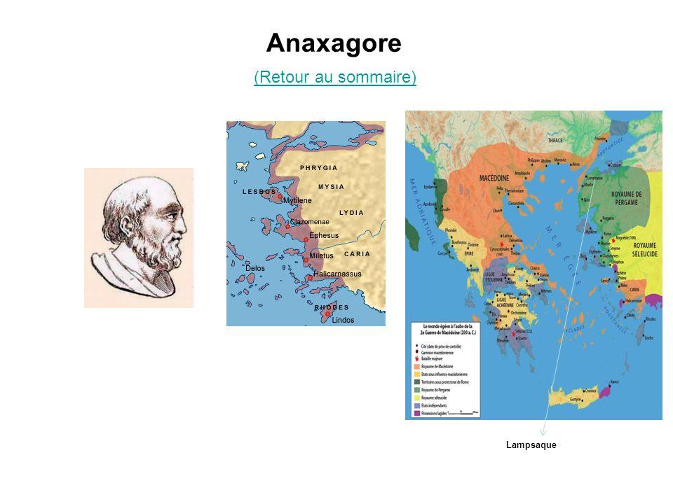Anaxagore Lampsaque (Retour au sommaire)