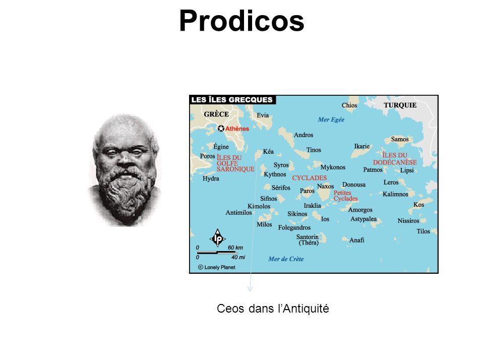 Prodicos Ceos dans lAntiquité