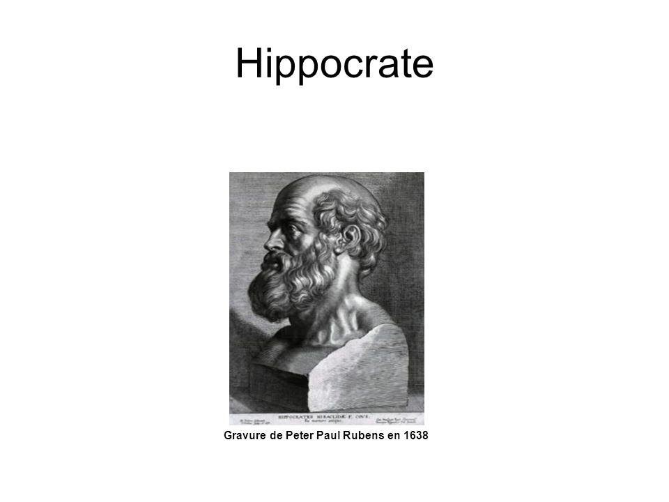 Hippocrate Gravure de Peter Paul Rubens en 1638