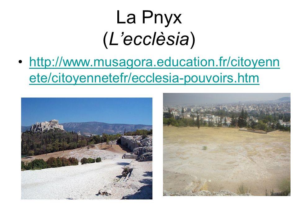 La Pnyx (Lecclèsia) http://www.musagora.education.fr/citoyenn ete/citoyennetefr/ecclesia-pouvoirs.htmhttp://www.musagora.education.fr/citoyenn ete/cit