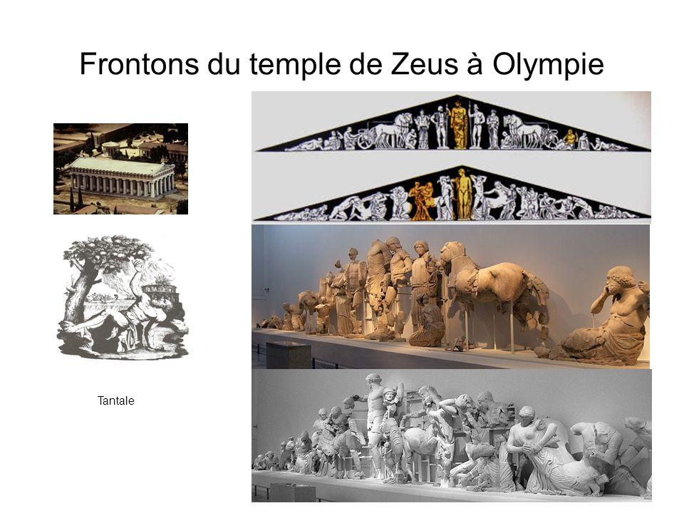 Frontons du temple de Zeus à Olympie Tantale