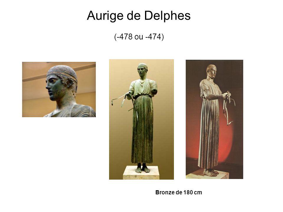 Aurige de Delphes (-478 ou -474) Bronze de 180 cm