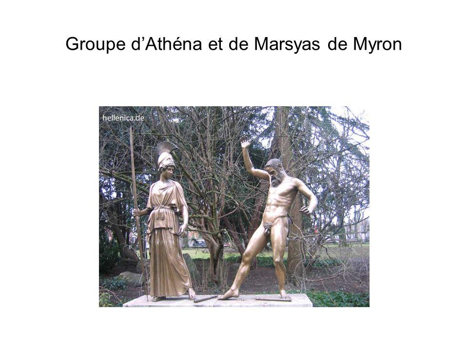 Groupe dAthéna et de Marsyas de Myron