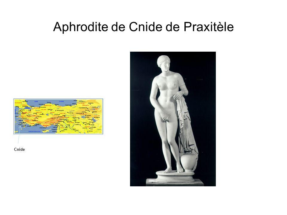 Aphrodite de Cnide de Praxitèle Cnide