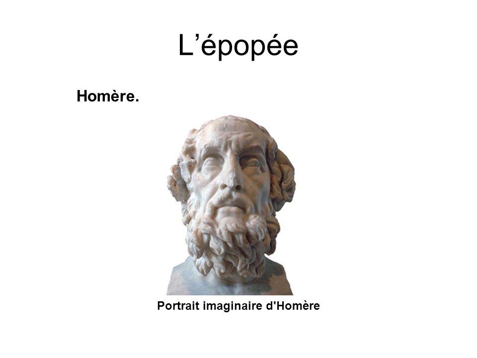 Lépopée Homère. Portrait imaginaire d'Homère