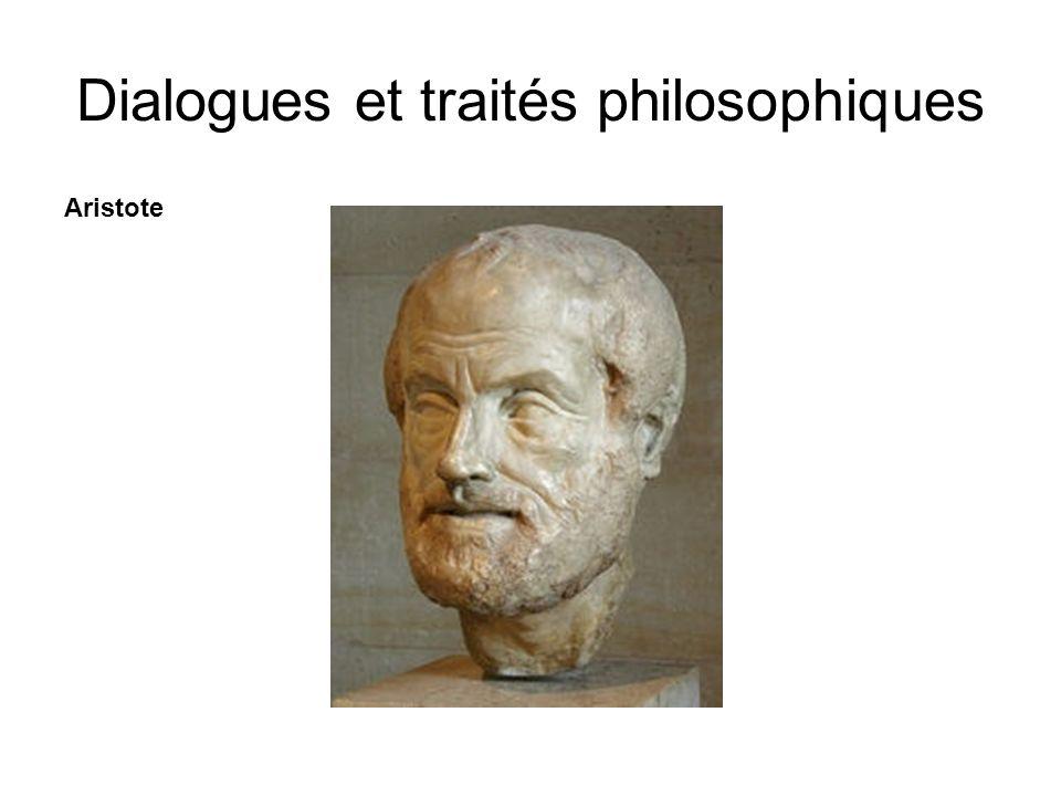 Aristote Dialogues et traités philosophiques