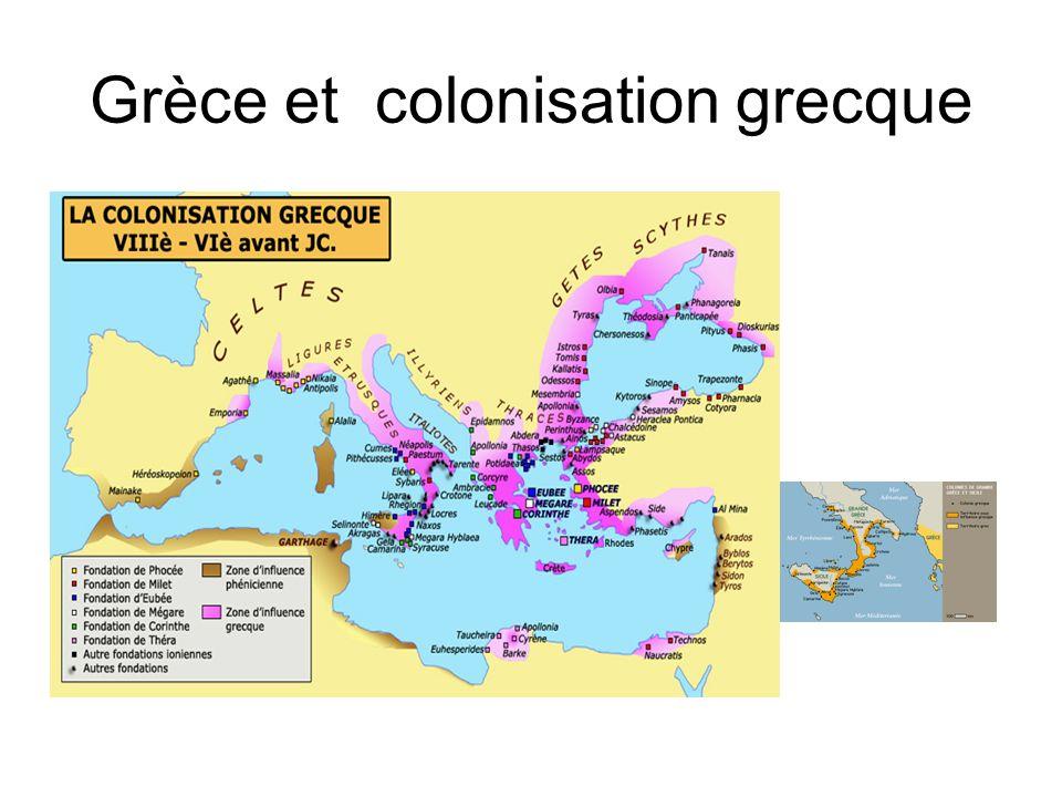 Grèce et colonisation grecque