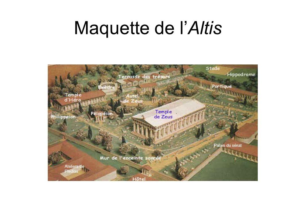Maquette de lAltis Palais du sénat Ateliers de Phidias